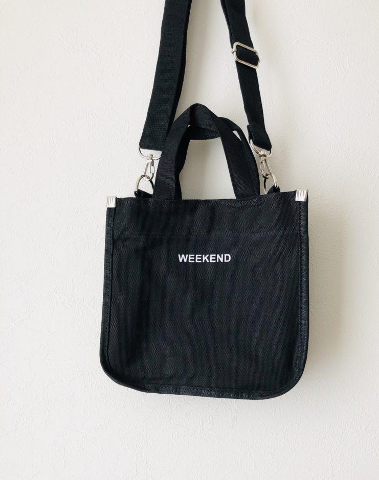 【MERONGSHOP】ウィークエンドエコクロスバッグ【フリー】ブラック