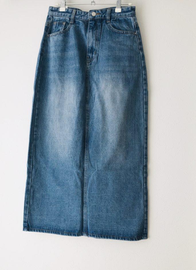【SONYUNARA】クリーンデニムロングスカート ブルー