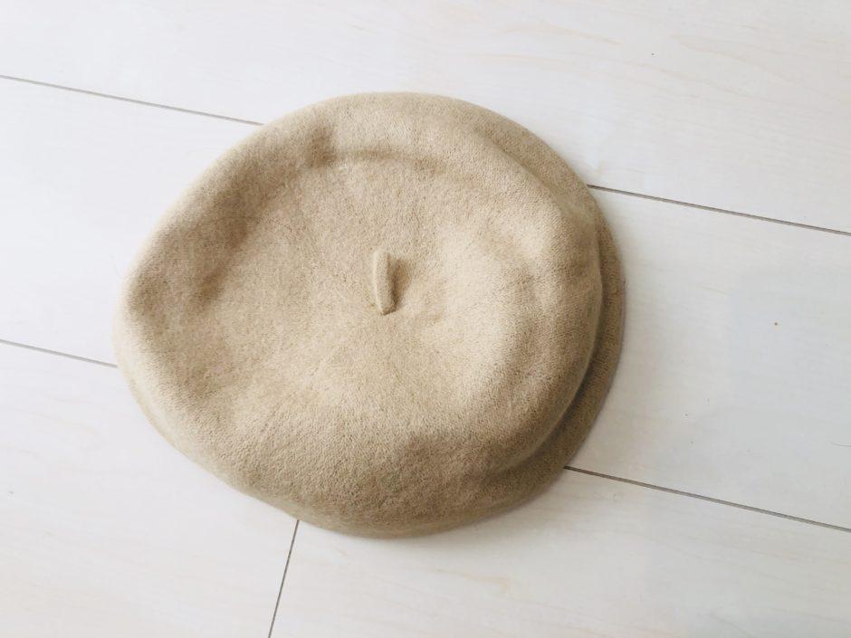 【MICHYEORA】ニットベレー帽 ベージュ