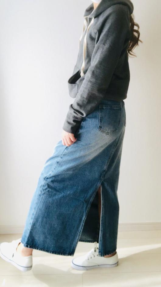【SONYUNARA】クリーンデニムロングスカート