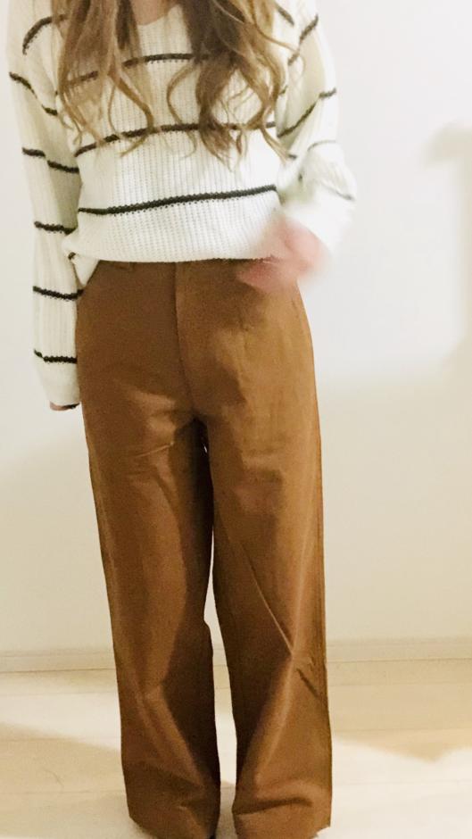 夢展望の脚長美脚ストレートワイドパンツ