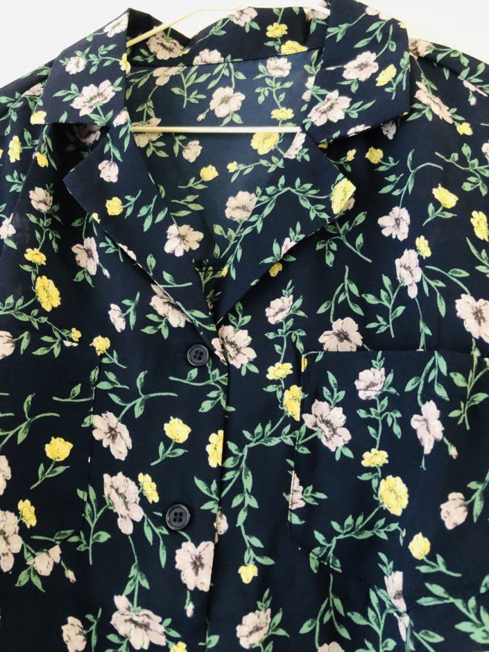夢展望のテーラードカラーオーバーサイズボクシーシャツ