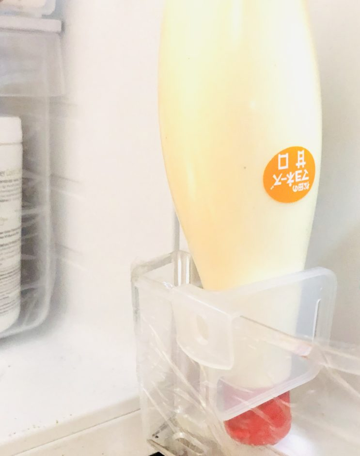 セリアの仕切りスタンド(冷蔵庫用)