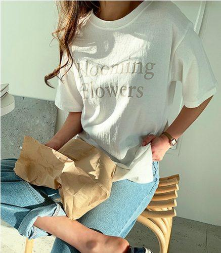 【NANING9】Blooming半袖Tシャツ