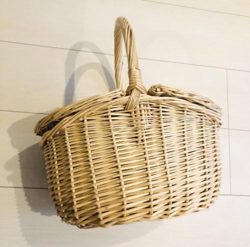 夢展望の柳の木 バスケットカゴバッグ