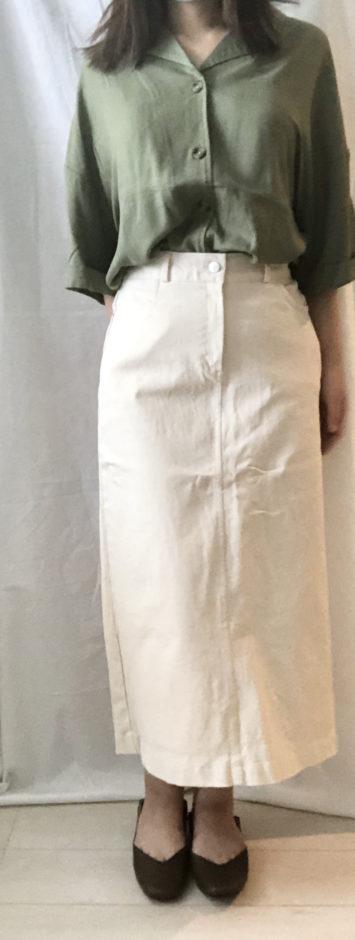 夢展望の大きいサイズ3L4Lテーラード開襟シャツ