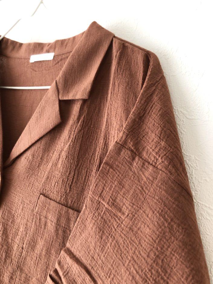 夢展望の5分袖ポケットシャツ
