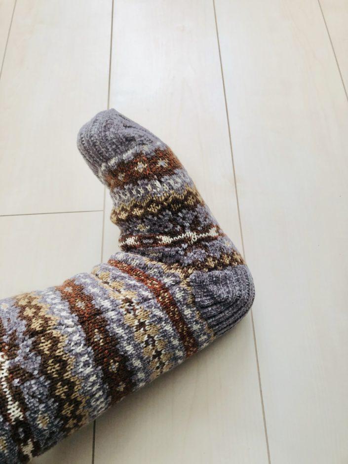 パシオスで購入したあったかもこもこ靴下