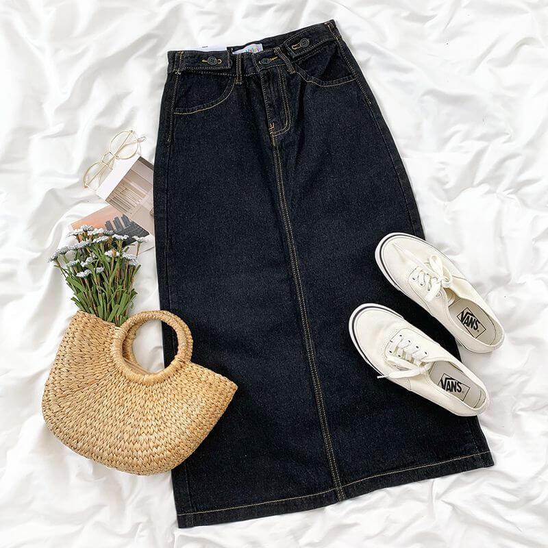 Yes Style 購入品 CaraMelody(カラメロディ) Denim Midi Skirt