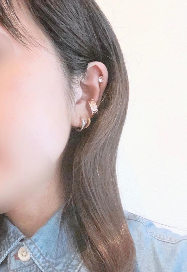 日本製ブランド「メロディアクセサリー」のイヤーカフを身につけてみた
