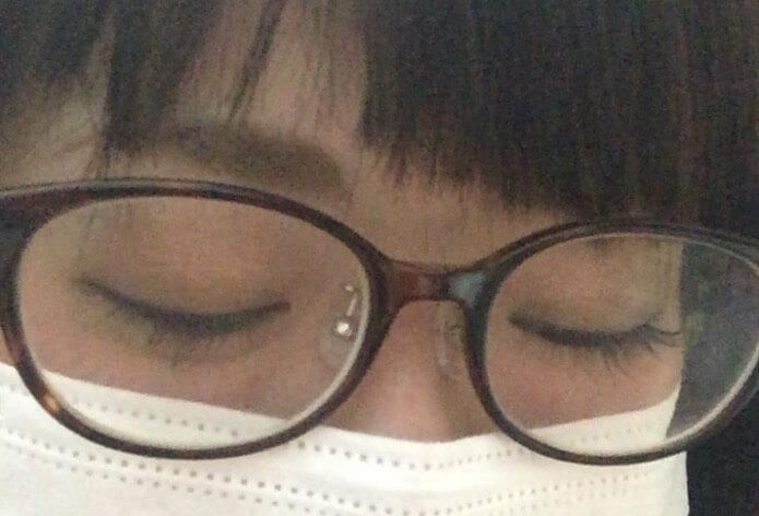 JINSのべっ甲柄メガネをかけてみた