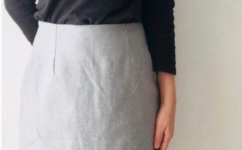 【購入レビュー】大人服のプチプラ通販「ピエロ」でウールタイトスカートを購入!